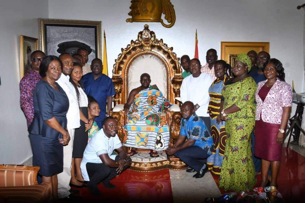 Ghana Post MD, new board members meet Asantehene