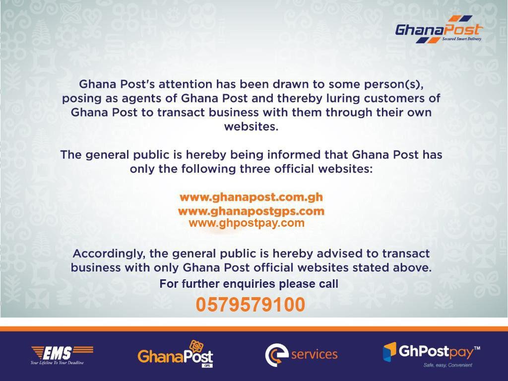 Ghana Post Scam Alert