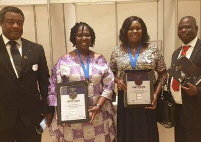 General managers flaunting 2Awards that was grabbed at the 2018 Ghana shippers award
